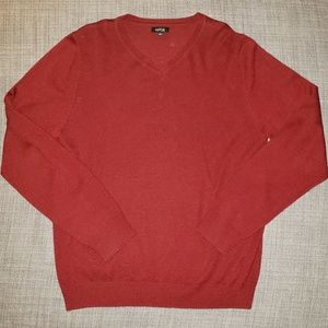 Cranberry small merino wool blend sweater
